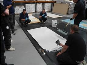 In July we held a formal training and development day for our SynDeck range of products to selected flooring installation companies.